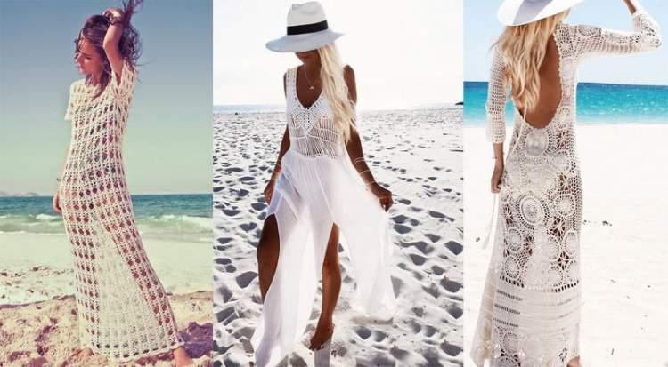 Saída de praia de renda e crochê é uma das tendências da moda praia verão 2018