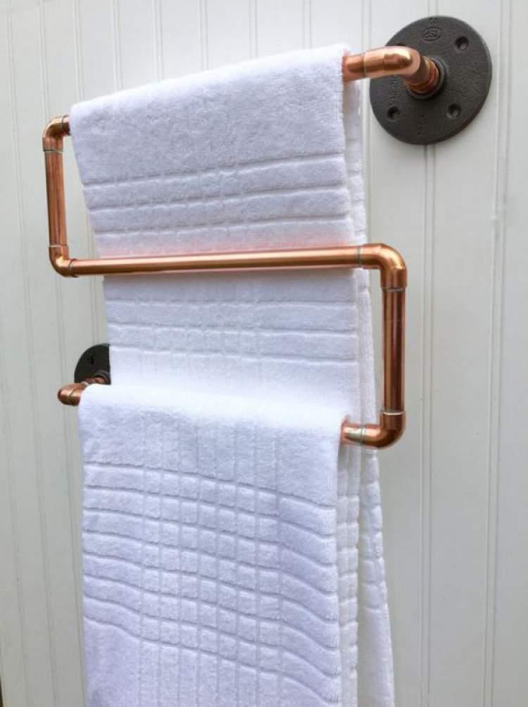 Suporte para toalhas com pouca profundidade