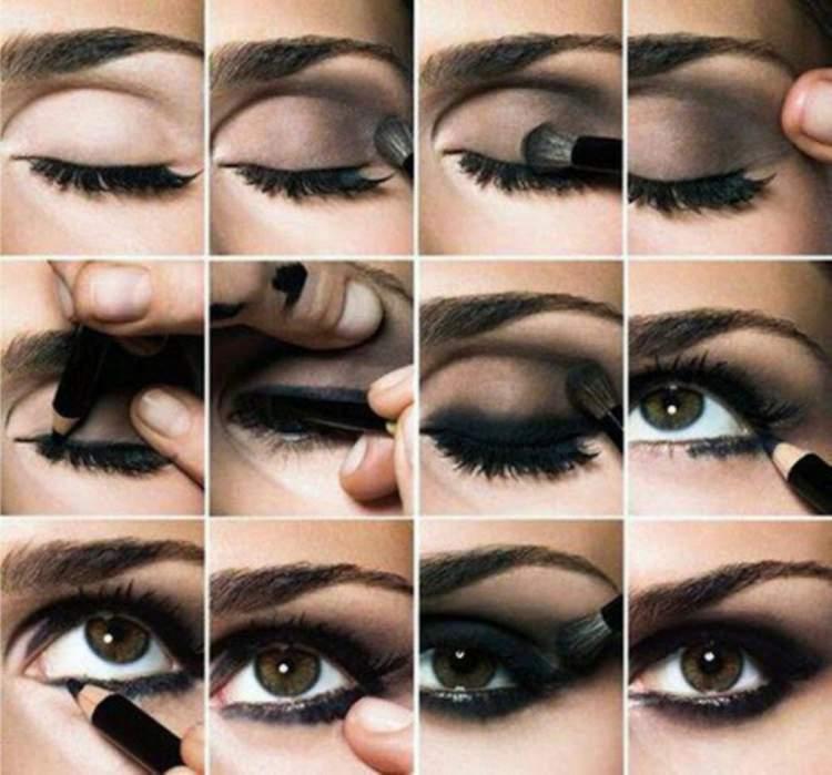 Make de olhos esfumados para deixar os olhos mais expressivos