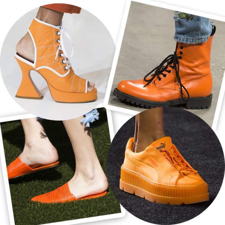 Calçados na cor do verão 2018