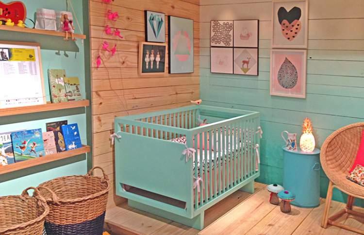 Foto da decoração do quarto do bebê