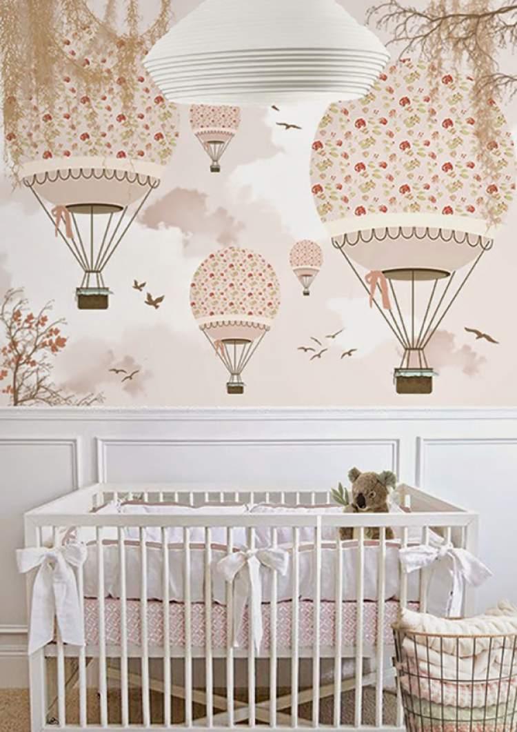Foto do quarto do bebê decorado