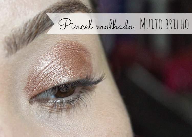Aprenda usar o pincel molhado para fixar a sombra na maquiagem