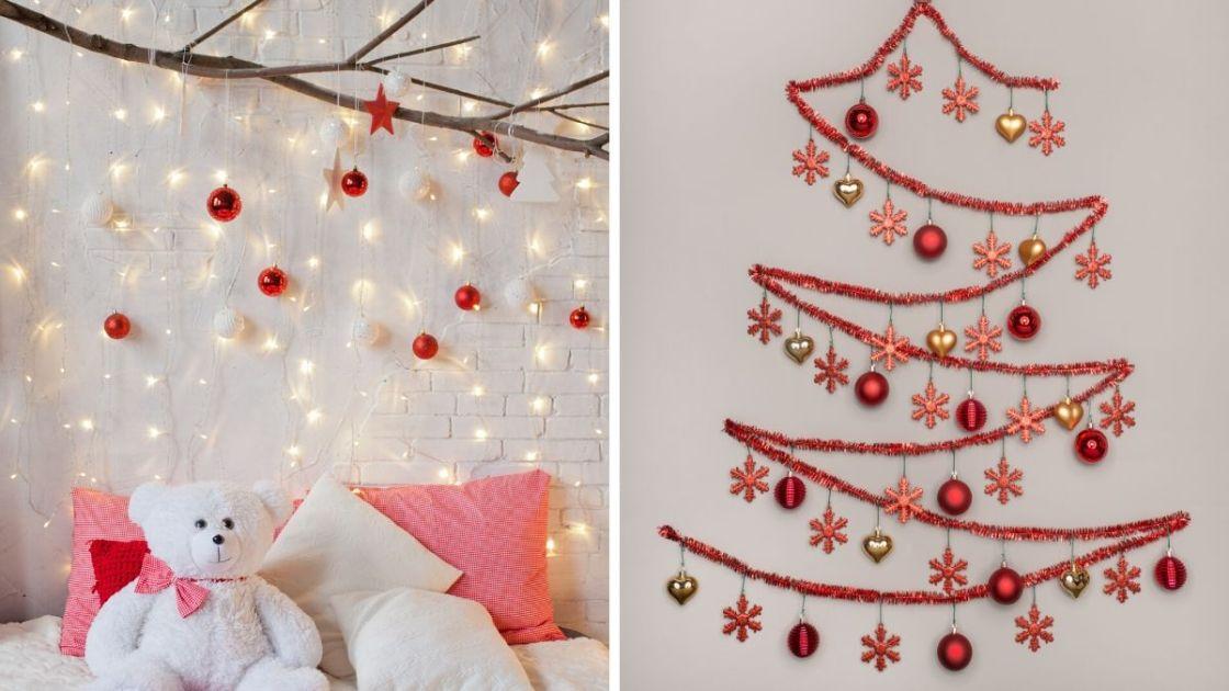 Decoração de Natal criativa na parede