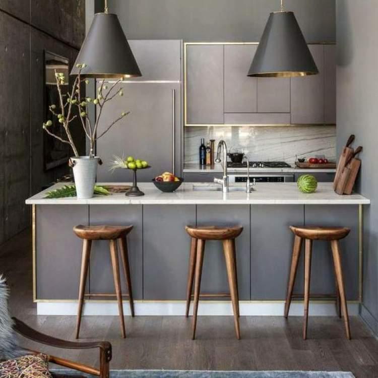 Modelo de balcão de cozinha