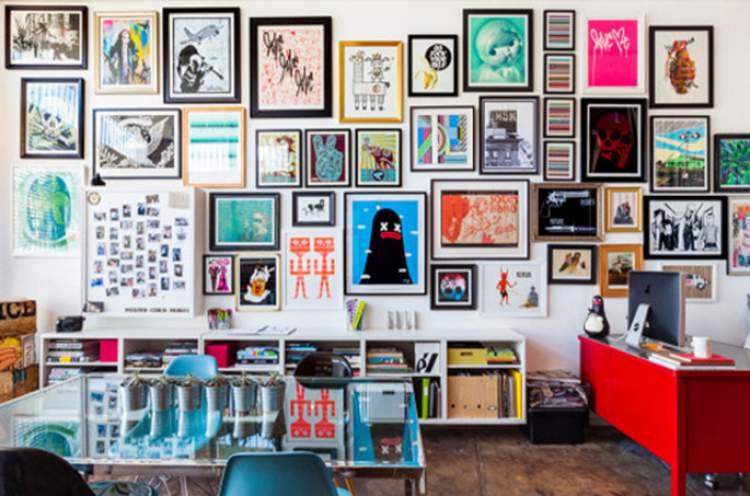 Posters nas paredes para melhorar a casa