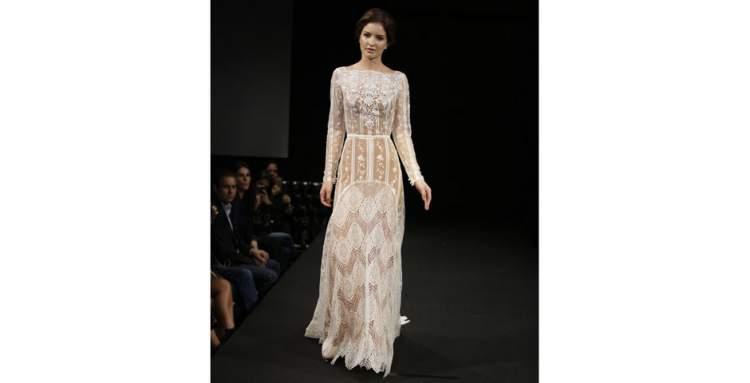 Vestido de Noiva Texturizado