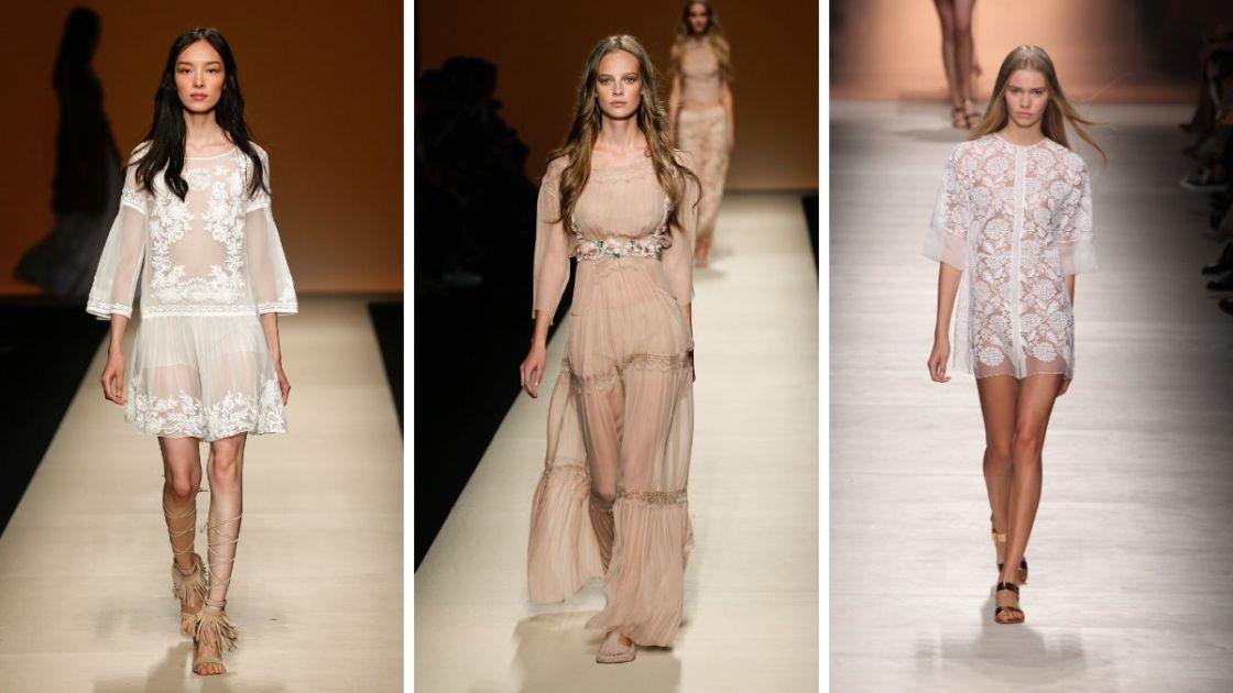 Looks com transparência estão entre as principais tendência da moda primavera verão 2019