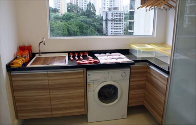 Cozinha e área de serviço juntas