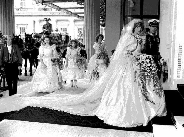 O casamento do Príncipe Charles e Lady Diana Spencer, mais conhecida como Lady Di