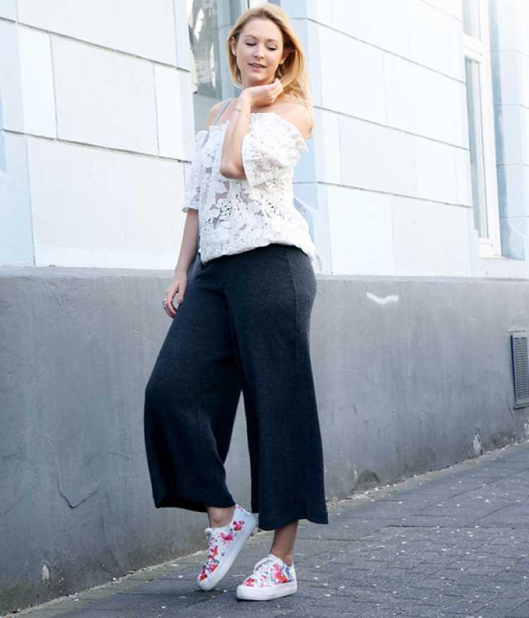 Mulher de quadril largo pode usar calça pantacourt