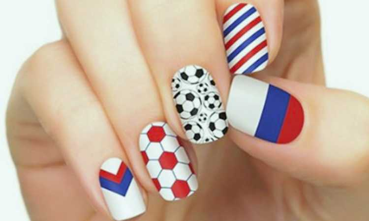 Unhas decoradas para torcer pela Rússia na copa do mundo