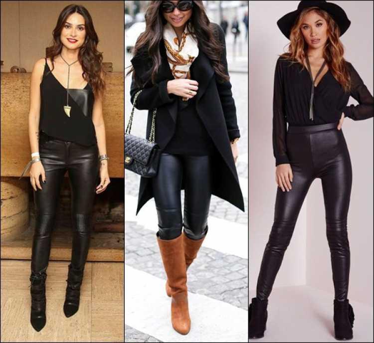 Look com calça skinny de couro