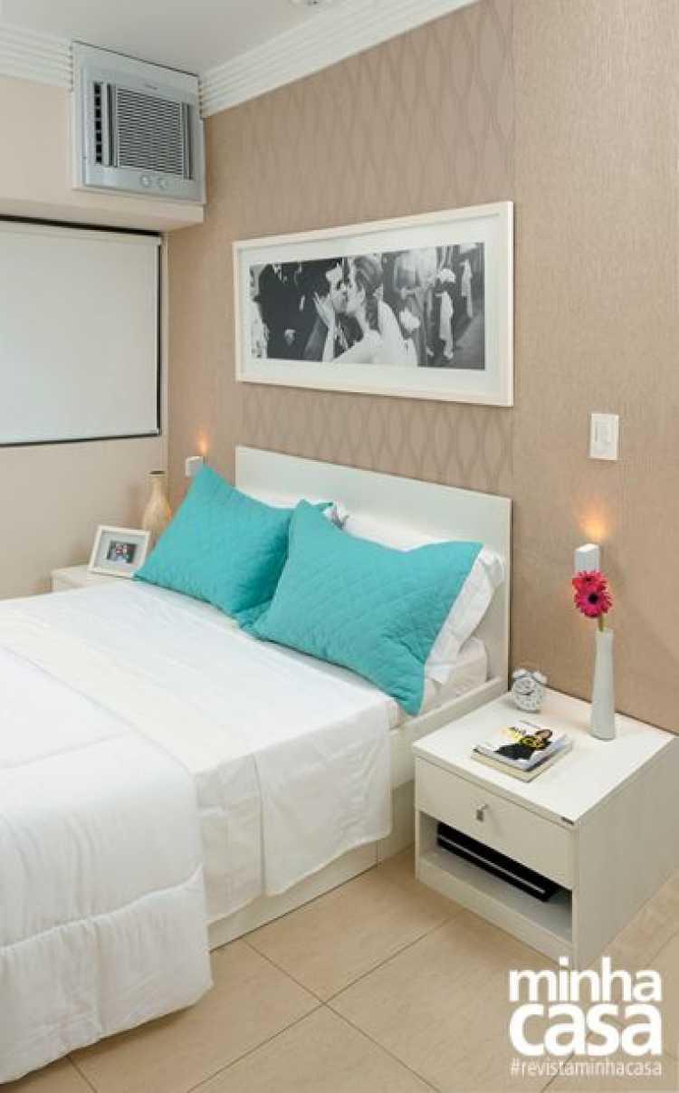 exemplo de quarto de casal decorado