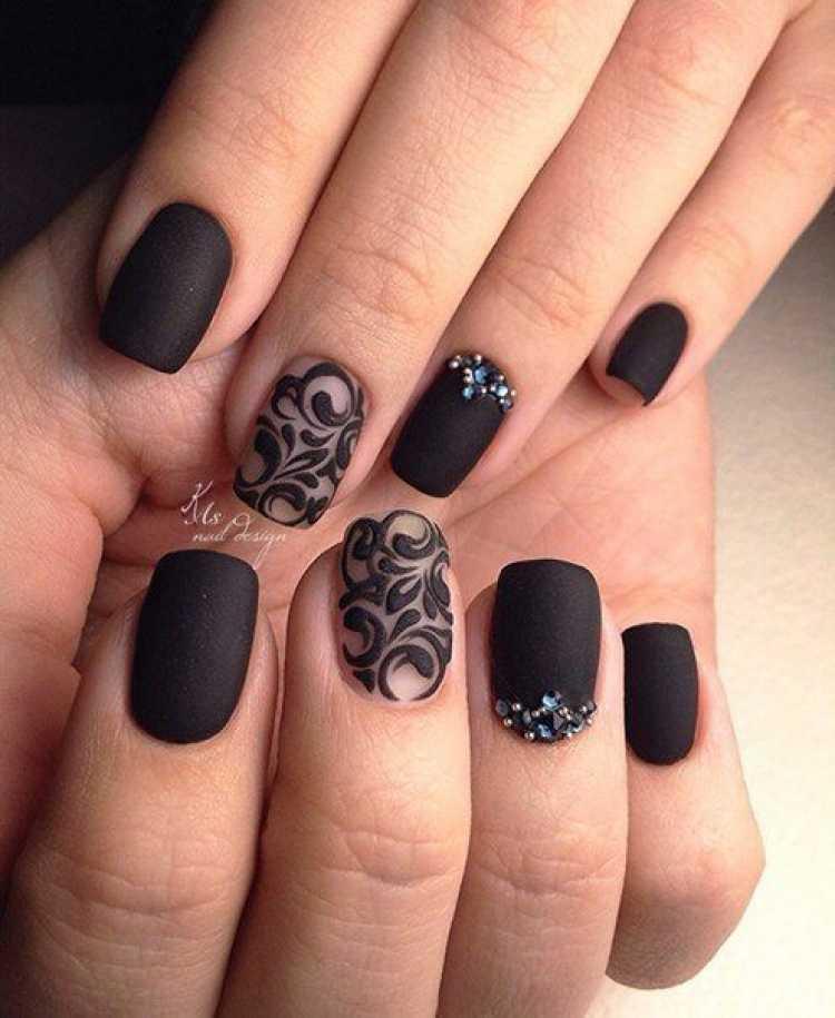 Nail art com esmalte fosco