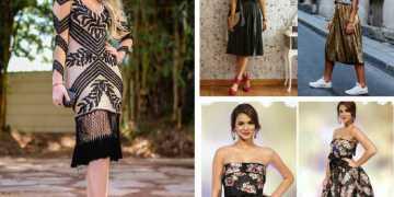Veja inspirações de look para usar numa festa a noite e arrasar. Tem opções para todos os estilos, com vestido, saia, calça e até com tênis.