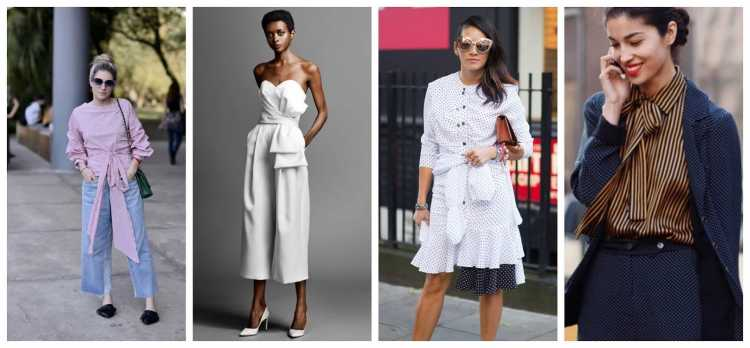 Laços é uma das tendências da moda verão 2019