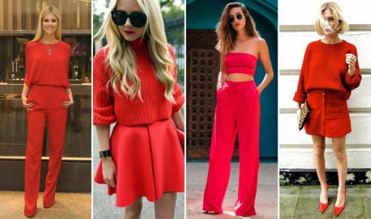 Peças vermelhas é uma das tendências da moda verão 2019