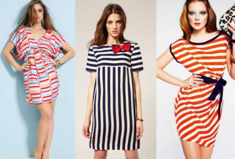 a roupa com listras coloridas dá alegria ao visual e deixa o look muito mais despojado.