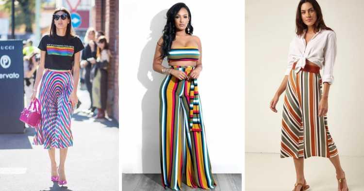 Calças em estampa arco-íris é tendência no verão 2019