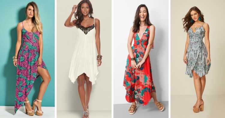 Modelo assimétrico é um dos modelos de vestidos para apostar no verão 2019