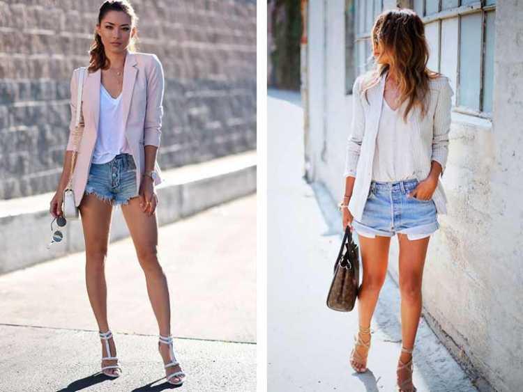 Shorts com blazer é uma das inspirações para quem gosta de usar shortinhos no verão