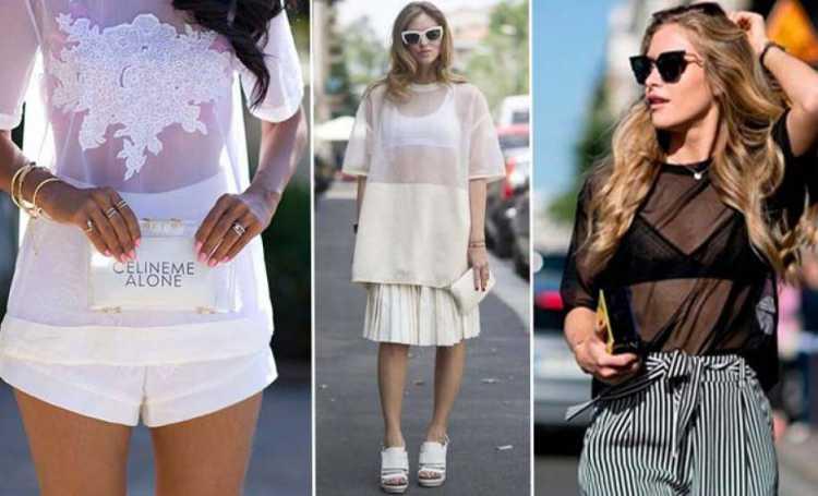 Transparência e lingerie a mostra é uma das tendências de beleza e moda 2019 das famosas