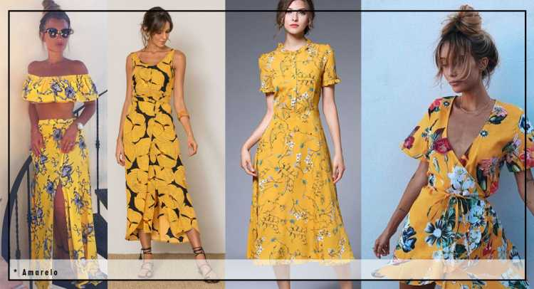 Looks leves em amarelo é uma das inspirações de look estiloso e fresco para o verão 2019