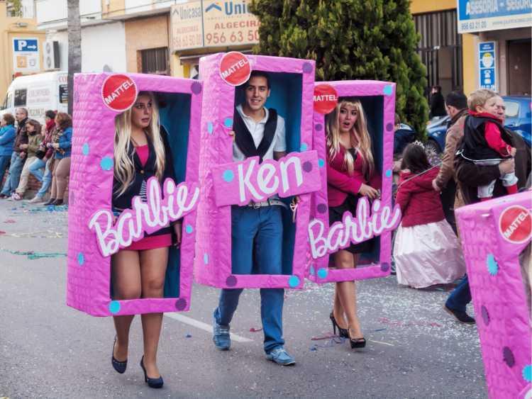 fantasias de carnaval Barbie na caixa