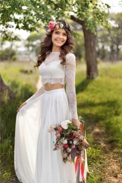 vestido de noiva com top