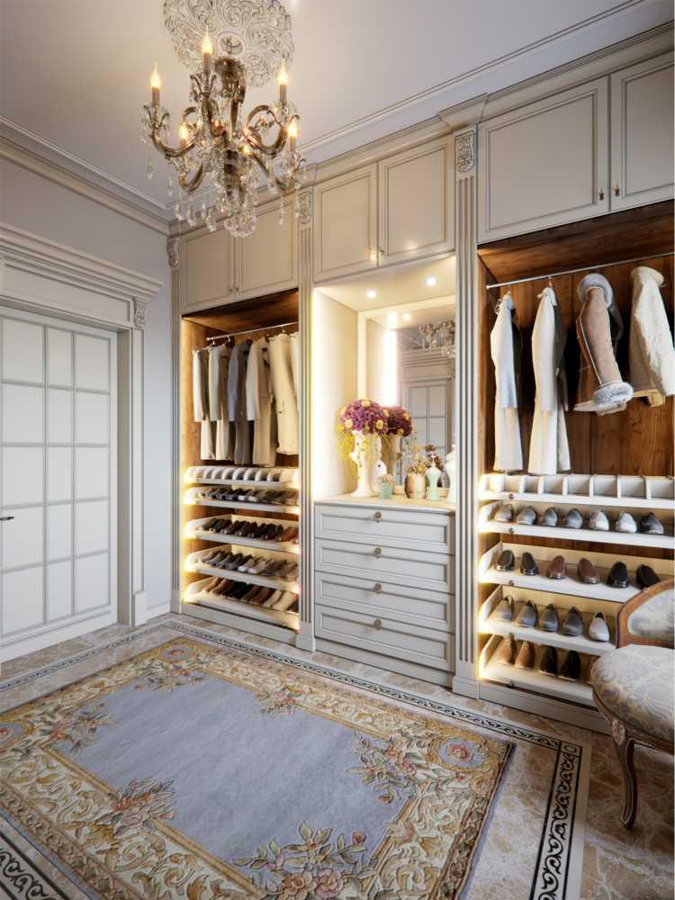 closet de princesa, romântico com detalhes dourados