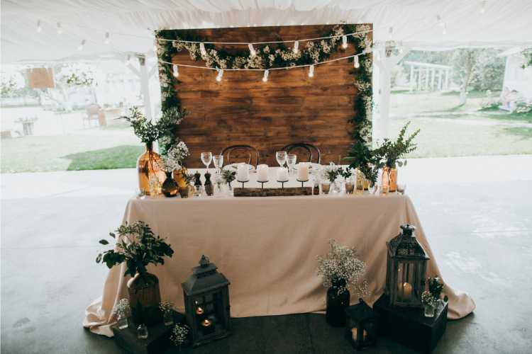 decoração rústica e simples para casamento