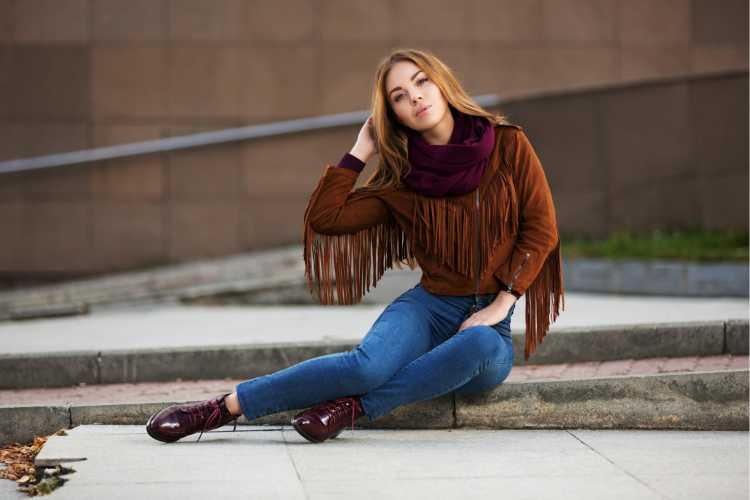 jaqueta com franjas da moda inverno 2019