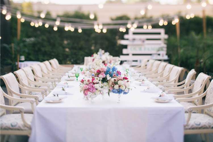 mesa de casamento da família