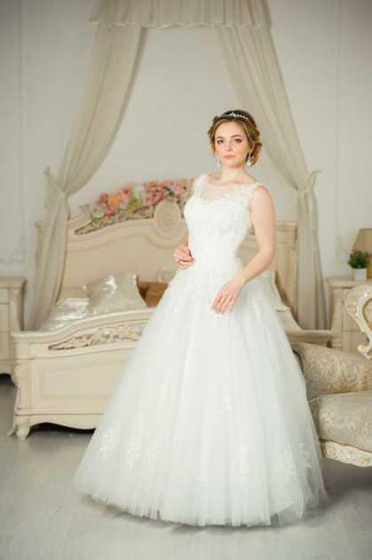 vestido de noiva de organza rodado