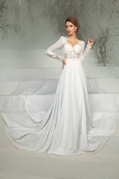 vestido de noiva soltinho com manga longa