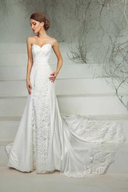 vestido de noiva tomara que caia estilo sereia bordado