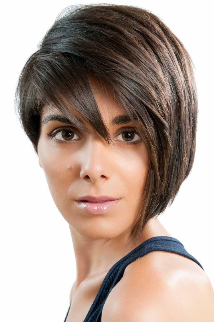 cabelo bem curtinho para rosto triangular