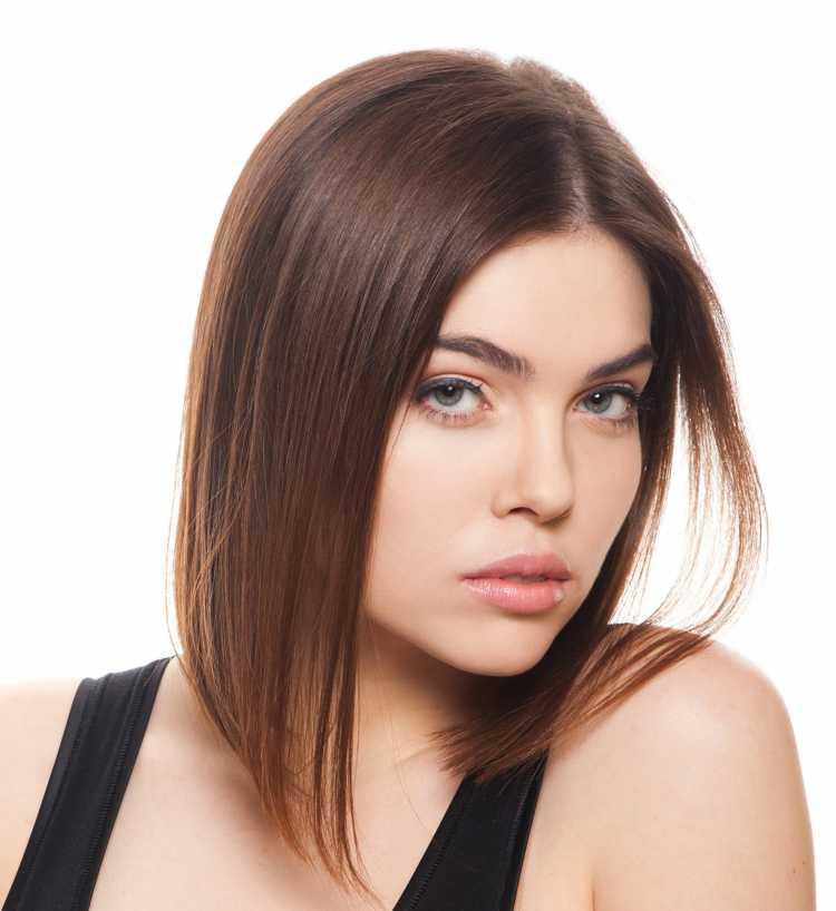 cabelo long bob médio com bico