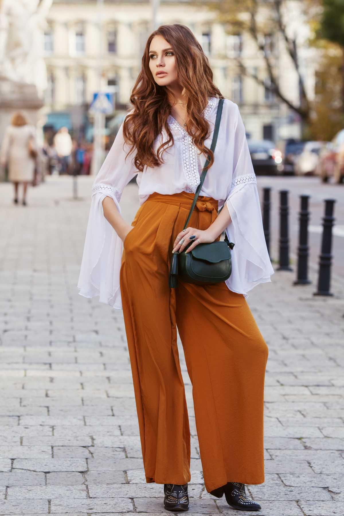 look elegante com pantalona