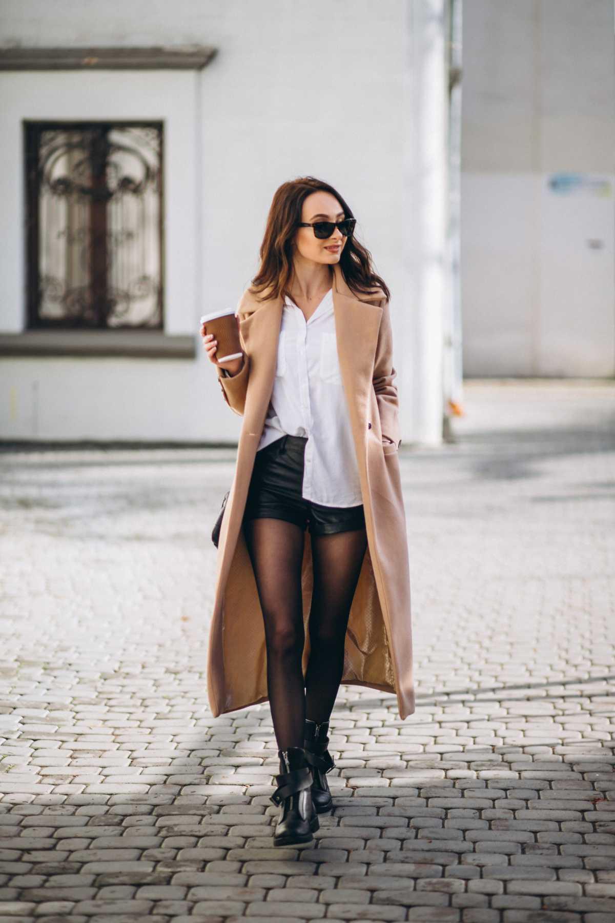 look com short e sobretudo para inverno