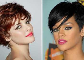 Mulheres com cortes curtos de cabelo