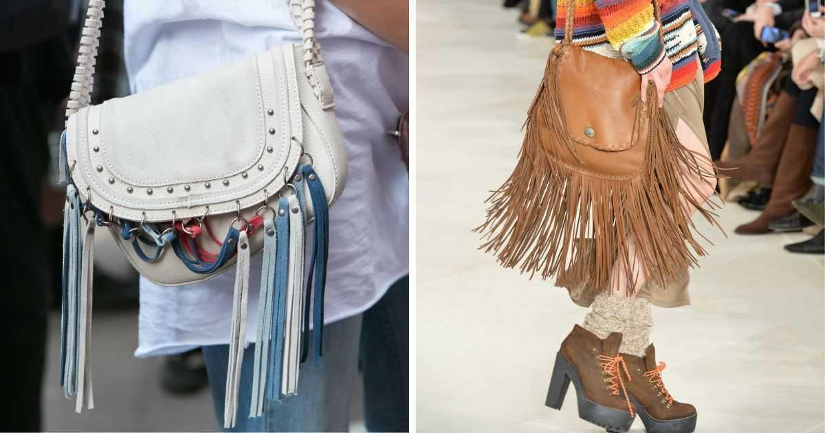 bolsas estilosas com franjas