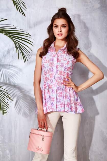 Look com blusa floral rosa