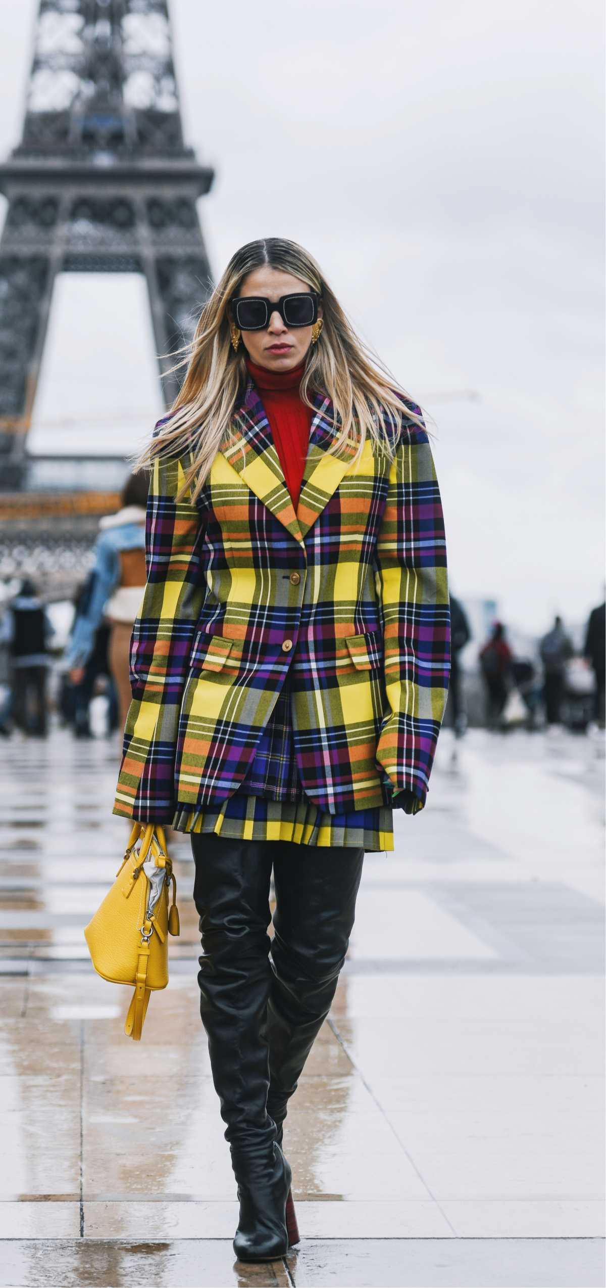 look com casaco xadrez