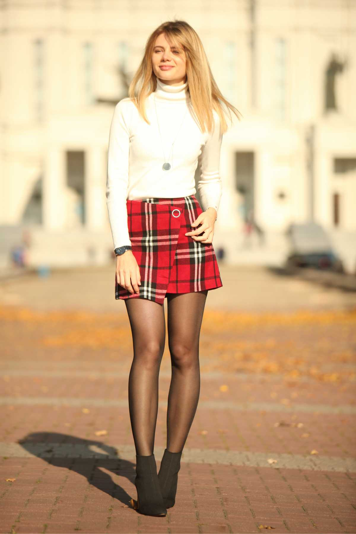 mini saia xadrez é tendência