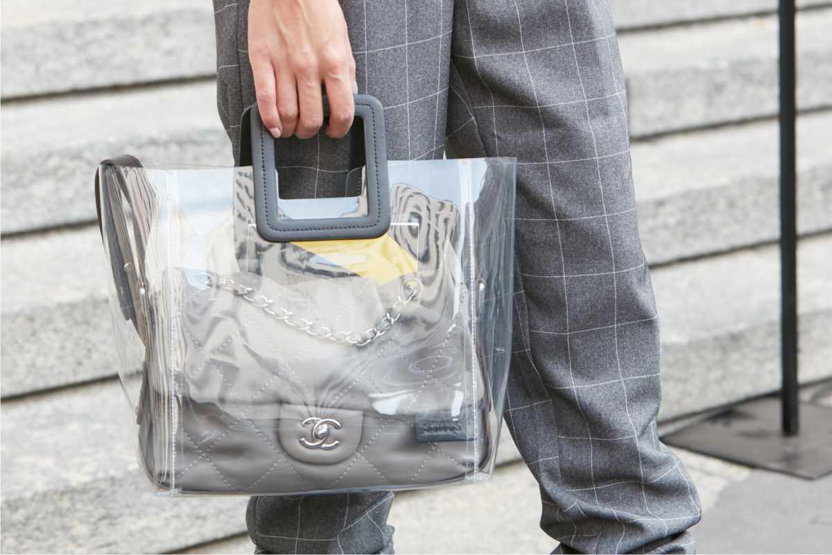 bolsa moderna, transparente será tendência neste inverno