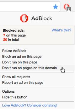 Como desativar o AdBlock