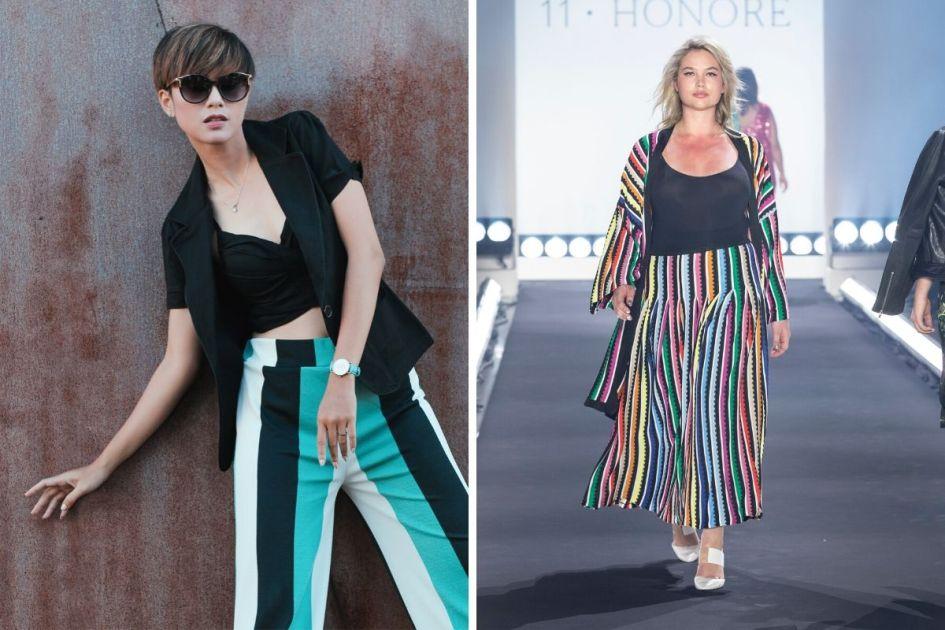 Roupas com listras coloridas são tendências da moda outono inverno 2020 - Foto: shut