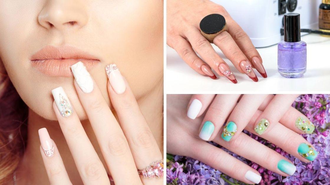 Nail arts com joias é uma das tendências de unhas decoradas 2020 - [Fotos: shutterstock]